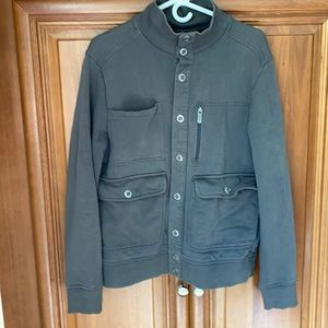 Kenneth Cole Reaction gray jacket silver buttons M